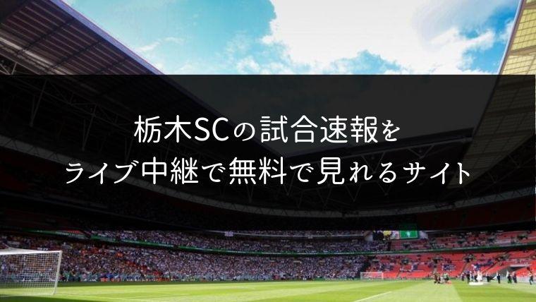 栃木SCの試合速報をライブ中継動画で無料で観れるサイト紹介